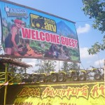 Cagsawa Bicol Adventure ATV Welcome Sign