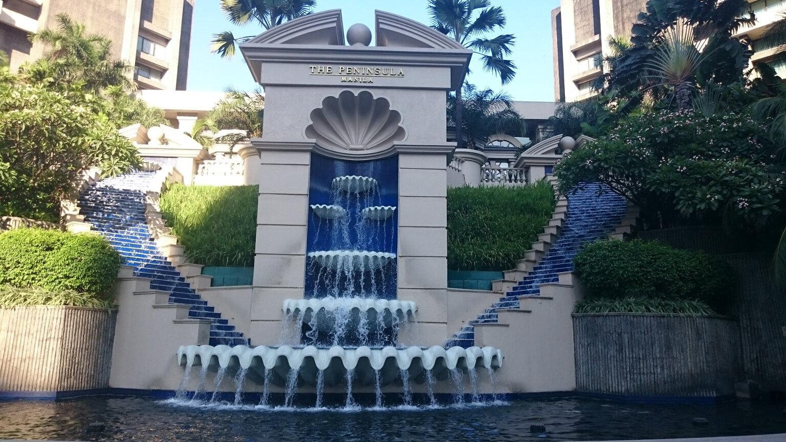 Fancy Fountain In Makati, Manila