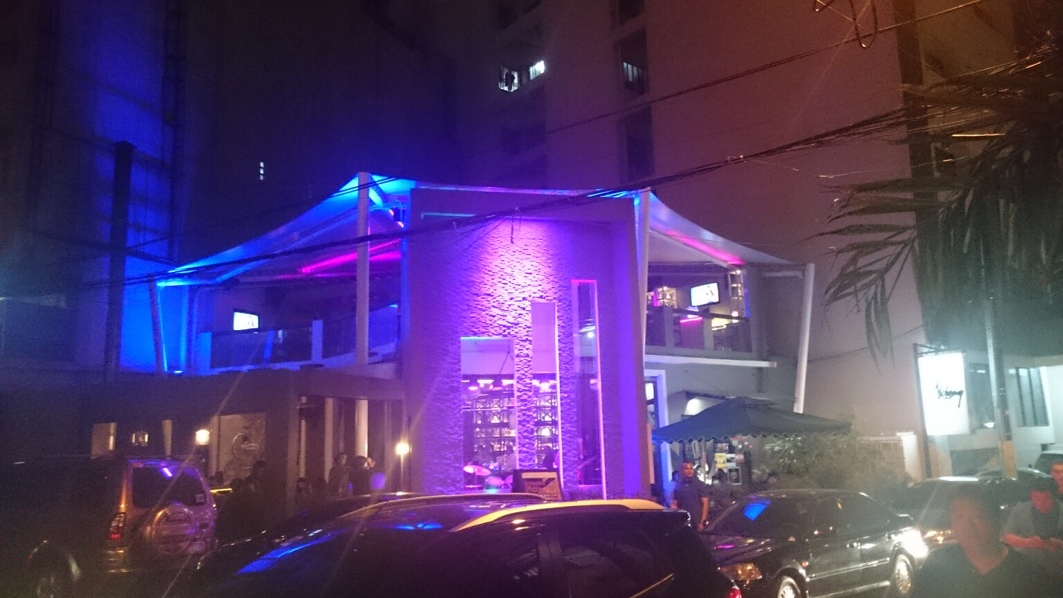 Night time view, Alcemy bar, Makati Manila