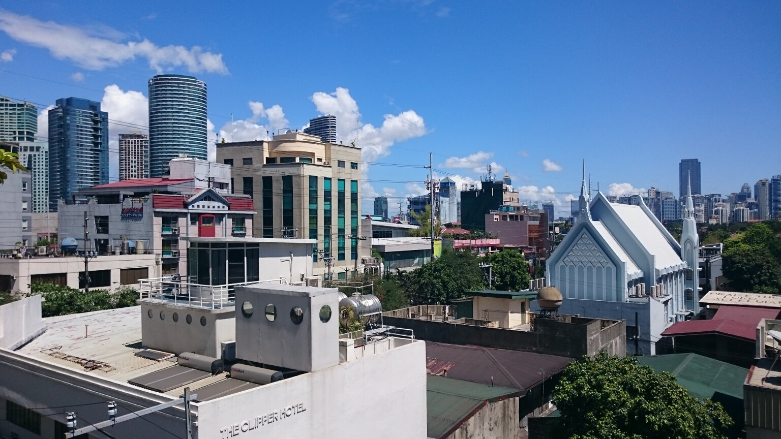 View From Lokal Hostel Roof In Makati Manila