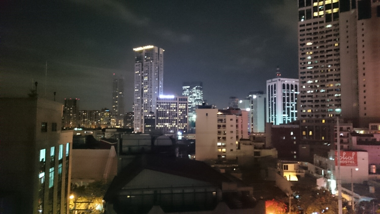 View from Z Hostel Rofftop, Makati Manila