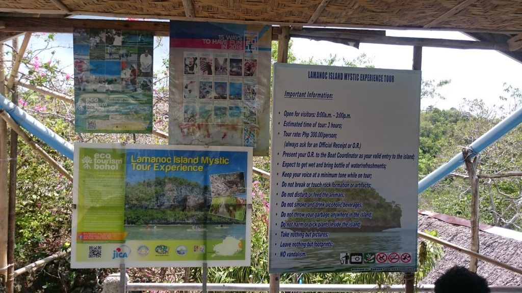 Lamanoc island Information signs