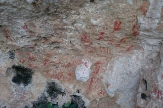 Lamanoc island Cave paintings
