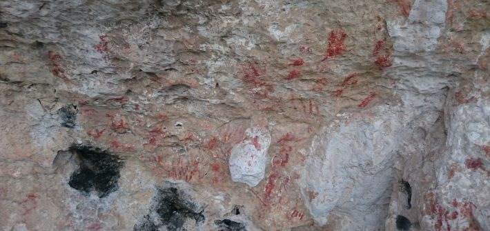 Lamanoc island Cave paintings