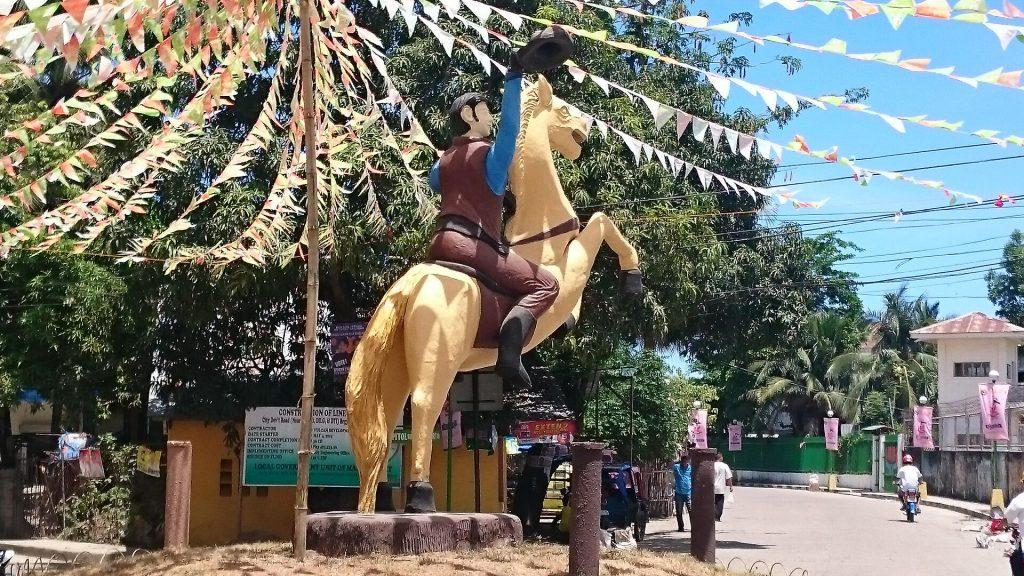 masbate city rodeo masbateno 2016 cowboy-statue