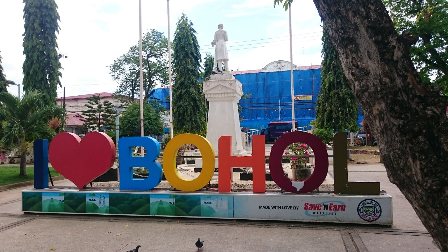 tagbilaran i love Bohol sign