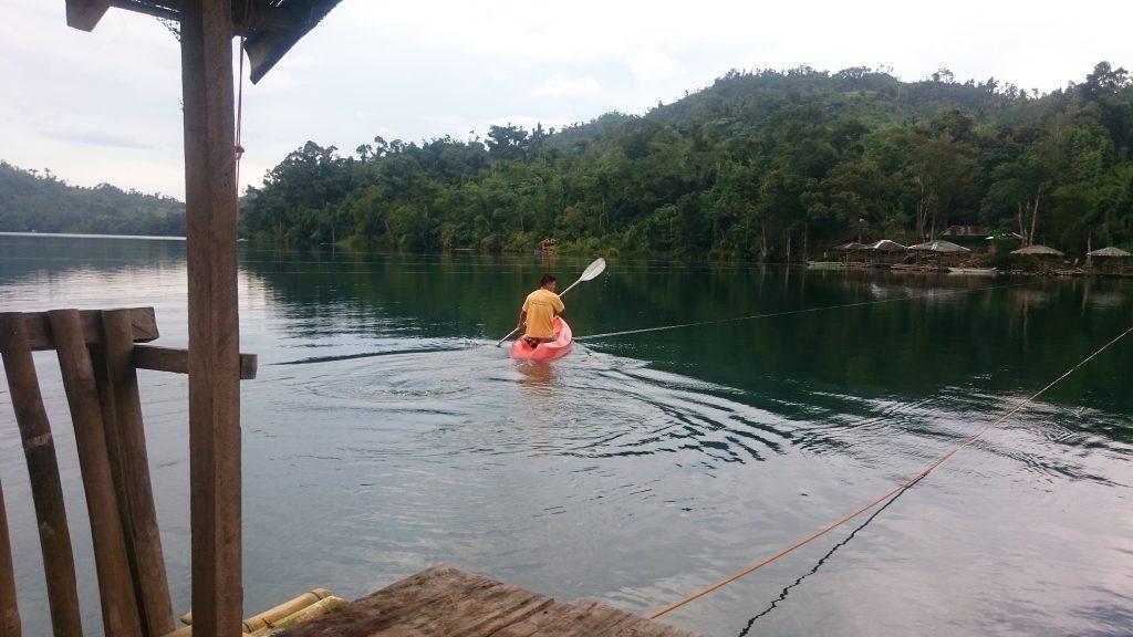 lake danao raft guide leaving