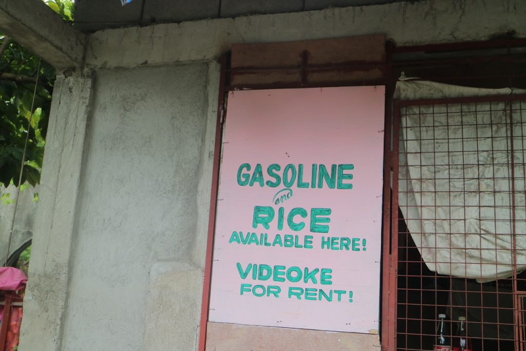 Gasoline, rice and Videoke sign Irosin, Sorsogon