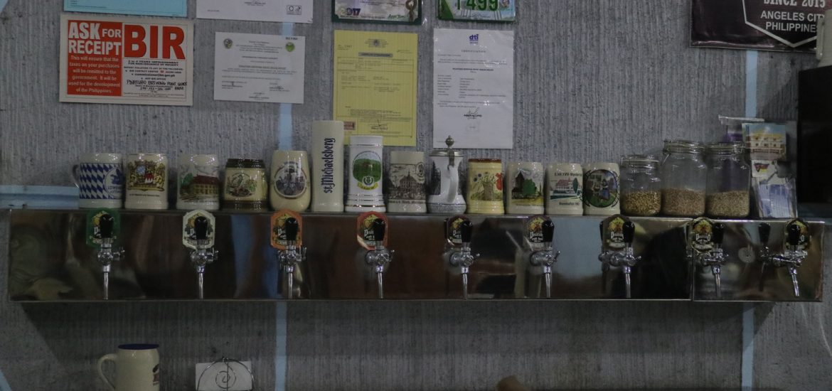 Pinatubo Brewing point taps