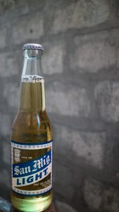 San Mig Light Bottle front
